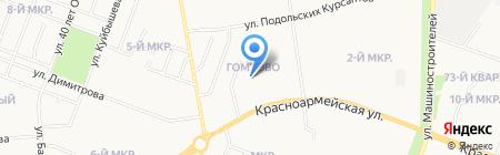 Библиотека №5 на карте Йошкар-Олы
