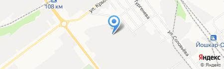 Полюс на карте Йошкар-Олы