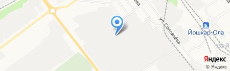 Гардеза на карте Йошкар-Олы