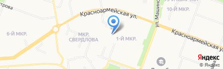Средняя общеобразовательная школа №20 на карте Йошкар-Олы