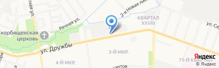 Поставка на карте Йошкар-Олы