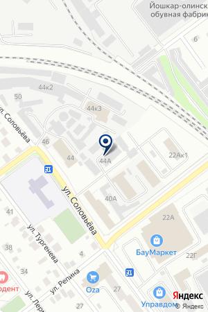 Центр замены масел на карте Йошкар-Олы
