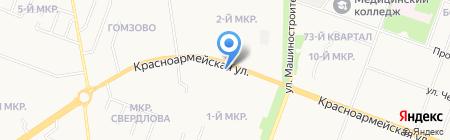 Фитлайн на карте Йошкар-Олы