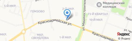 Лебедь на карте Йошкар-Олы