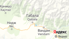 Гостиницы города Габала на карте