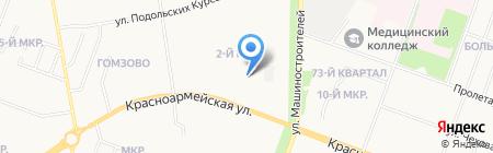 Диана на карте Йошкар-Олы