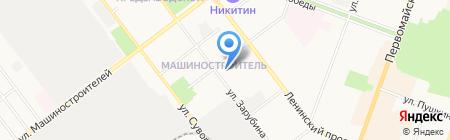 Мастерская по ремонту обуви на ул. Рябинина на карте Йошкар-Олы