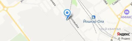 Фитнес-центр на карте Йошкар-Олы