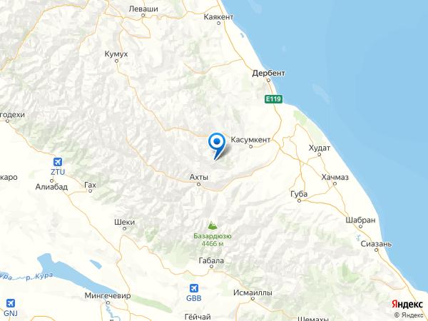 село Ашакент на карте