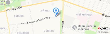Киоск по продаже цветов на карте Йошкар-Олы