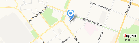 Зебра на карте Йошкар-Олы