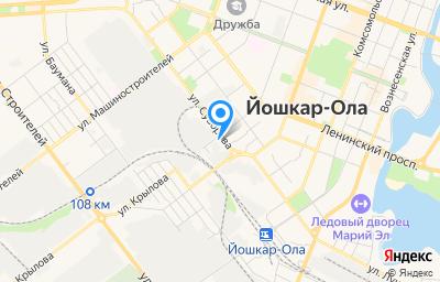 Местоположение на карте пункта техосмотра по адресу г Йошкар-Ола, ул Суворова, д 3