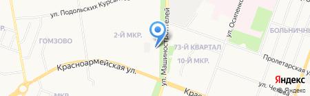 Дрёма на карте Йошкар-Олы