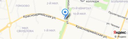 Арена на карте Йошкар-Олы