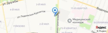 Интер на карте Йошкар-Олы