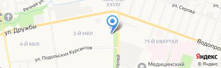 Жигули на карте Йошкар-Олы