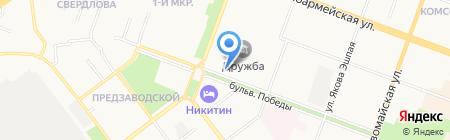 Теннисный корт Марий Эл на карте Йошкар-Олы