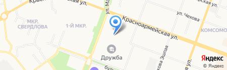 Автоклиника на карте Йошкар-Олы