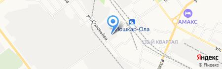 Муссон на карте Йошкар-Олы