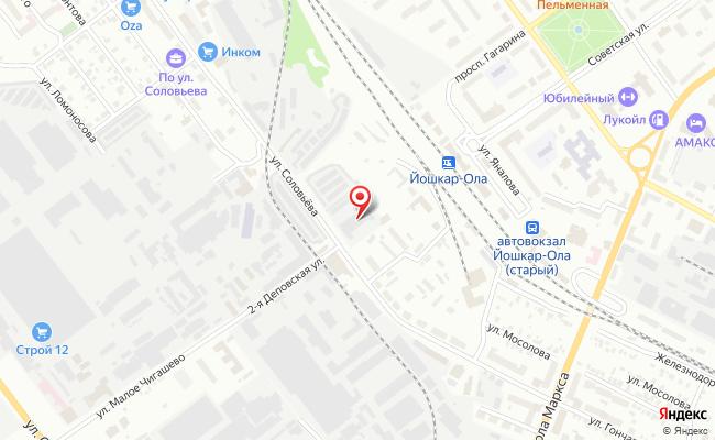 Карта расположения пункта доставки DPD Pickup в городе Йошкар-Ола