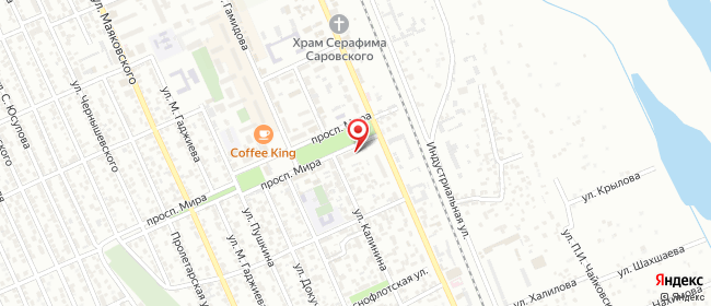 Карта расположения пункта доставки Билайн в городе Избербаш