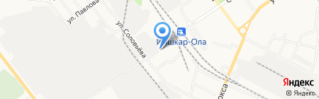Катюша на карте Йошкар-Олы