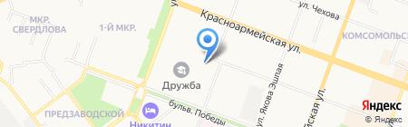 Министерство культуры печати и по делам национальностей на карте Йошкар-Олы