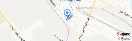 Вятка на карте Йошкар-Олы