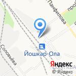 Линейное отделение полиции Йошкар-Ола на карте Йошкар-Олы