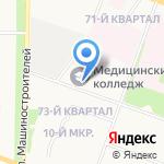 Йошкар-Олинский медицинский колледж на карте Йошкар-Олы