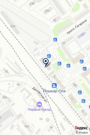 Линейный отдел полиции Йошкар-Ола на карте Йошкар-Олы