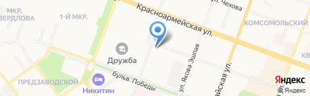 Почтовое отделение №2 на карте Йошкар-Олы