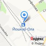 Марийские сувениры на карте Йошкар-Олы