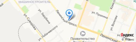 Интер-Маркет на карте Йошкар-Олы