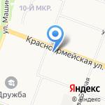 Золотой локон на карте Йошкар-Олы