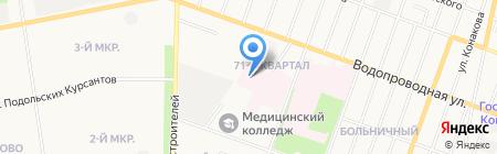 Медико-санитарная часть №1 г. Йошкар-Олы на карте Йошкар-Олы