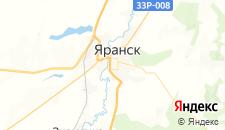 Отели города Яранск на карте