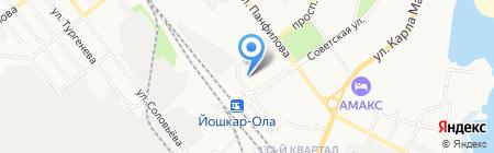 Дом Творчества Кулинаров на карте Йошкар-Олы
