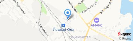 Киоск по продаже сувениров на карте Йошкар-Олы