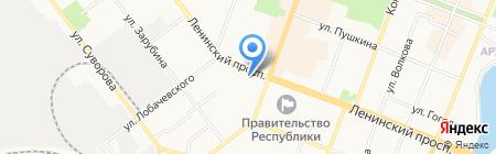 Банкомат Лето Банк на карте Йошкар-Олы