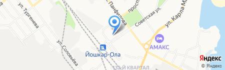 Градус на карте Йошкар-Олы
