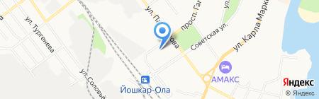 Детский сад №50 Солнышко на карте Йошкар-Олы