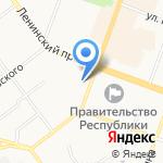 Первомайский на карте Йошкар-Олы