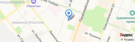 Врачебно-физкультурный диспансер на карте Йошкар-Олы