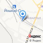 Йошкар-Олинская дистанция пути на карте Йошкар-Олы