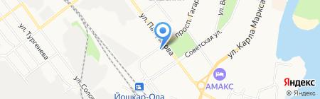 Межрегиональная коллегия адвокатов Республики Марий Эл на карте Йошкар-Олы