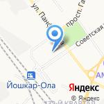 Почтовое отделение №6 на карте Йошкар-Олы