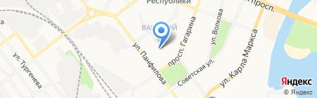 Рай на карте Йошкар-Олы