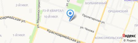 Жемчуг на карте Йошкар-Олы