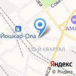 Хлебозавод №1 на карте Йошкар-Олы